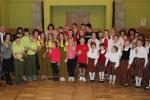 XI Latvijas skolu jaunatnes Dziesmu un deju svētku dalībnieku godināšana. Foto: I.Naimane