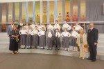 Mūzikas skolu kori Alojā izdziedāja vienaudžu jaundarbus