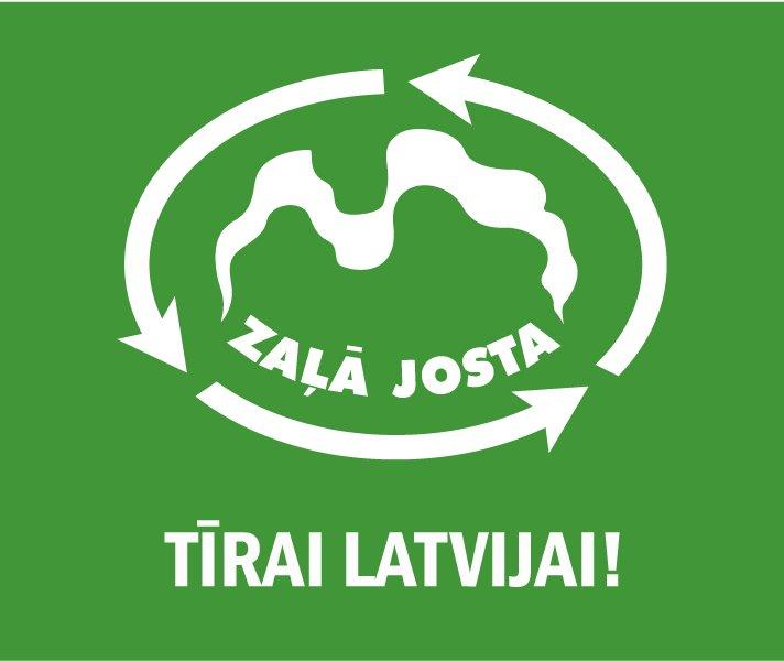 Zaļā josta Tīrai Latvijai_logo