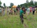 Ikgadējos novada pļaušanas svētkus netraucēja pat lietus