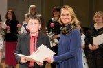 Alojietis Markuss Jefremovs un viņa skolotāja saņēmuši Kultūras ministrijas apbalvojumu
