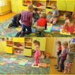 """Ozolmuižas pirmsskolēni iemēģina puzli """"klasītes"""", kas tika dāvinātas visām 5 pirmsskolas programmas īstenošanas vietām"""