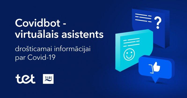 Izmanto virtuālo asistentu, lai iegūtu informāciju par Covid-19