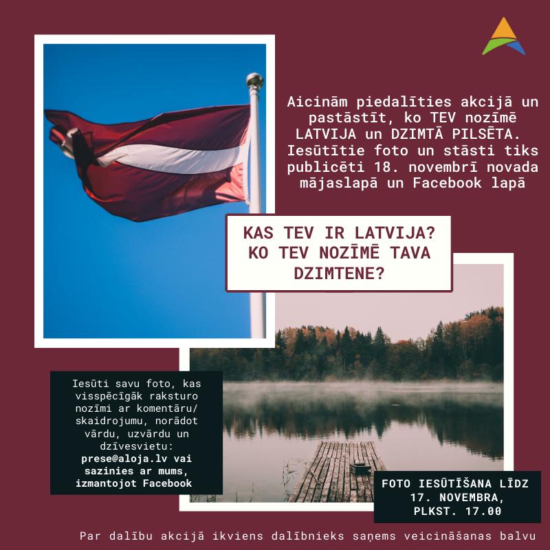 Aicinām piedalīties akcijā, pastāstot, ko Jums nozīmē Latvija?