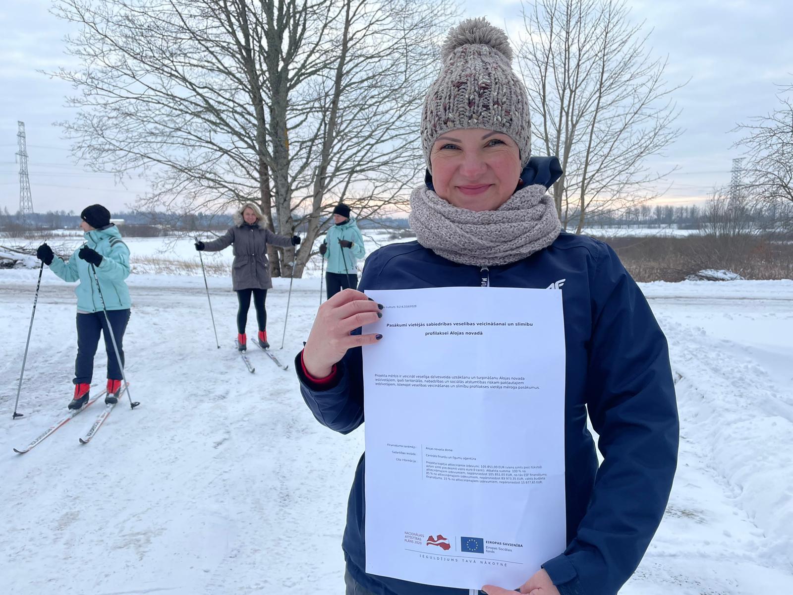 Veselības projekta ietvaros iegādāts slēpošanas inventārs