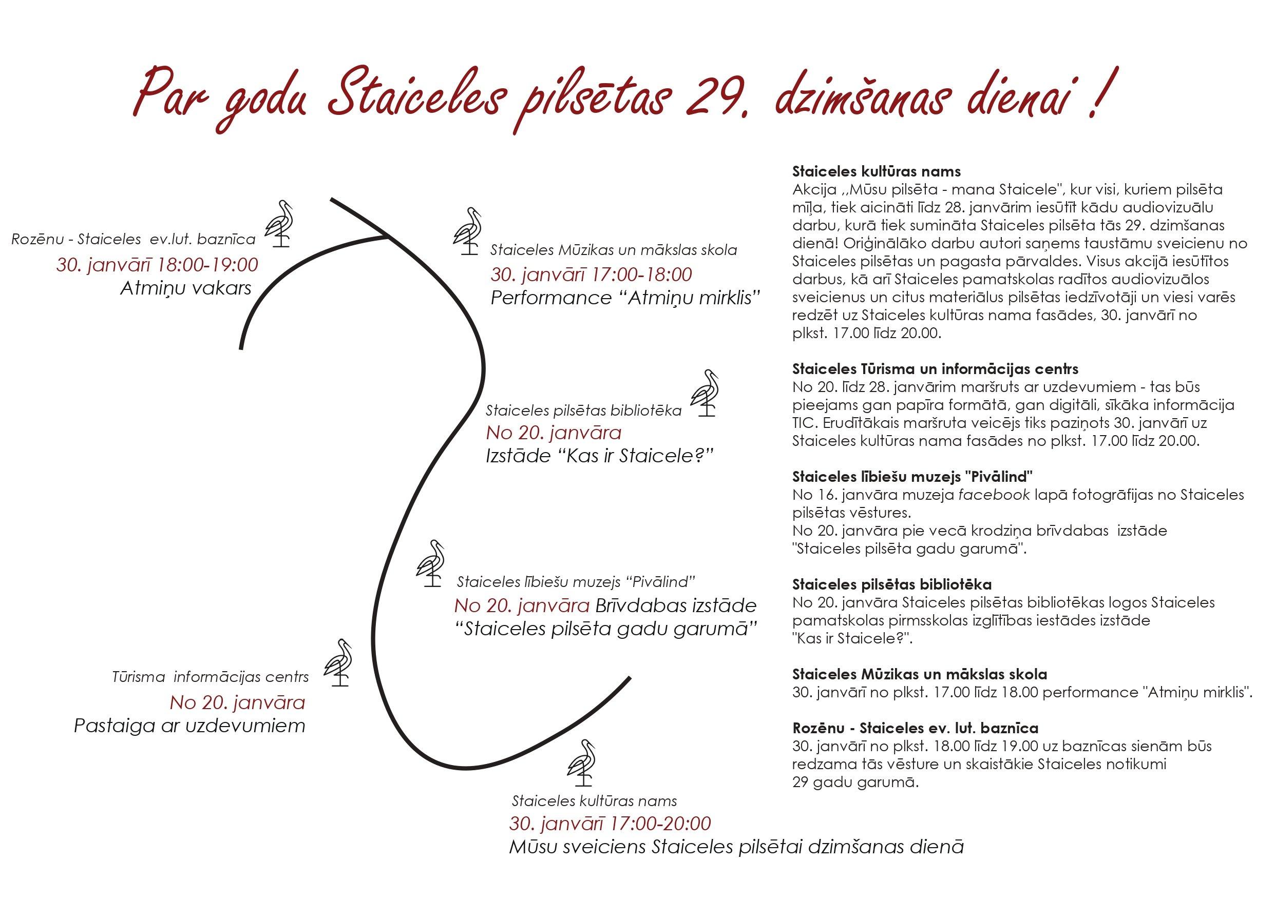 Aktivitātes par godu Staiceles 29. dzimšanas dienai
