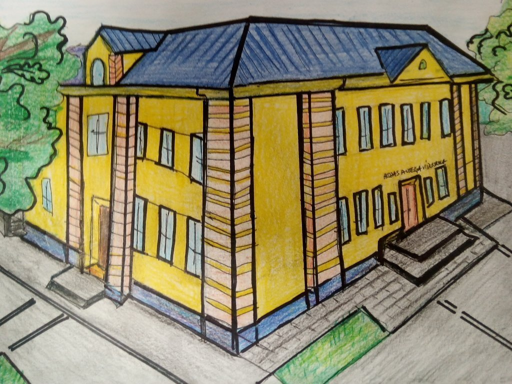 """Skates """"Gada labākā būve 2020"""" skolēnu zīmējumu balsošanā arī Alojas novada audzēkņu darbi"""