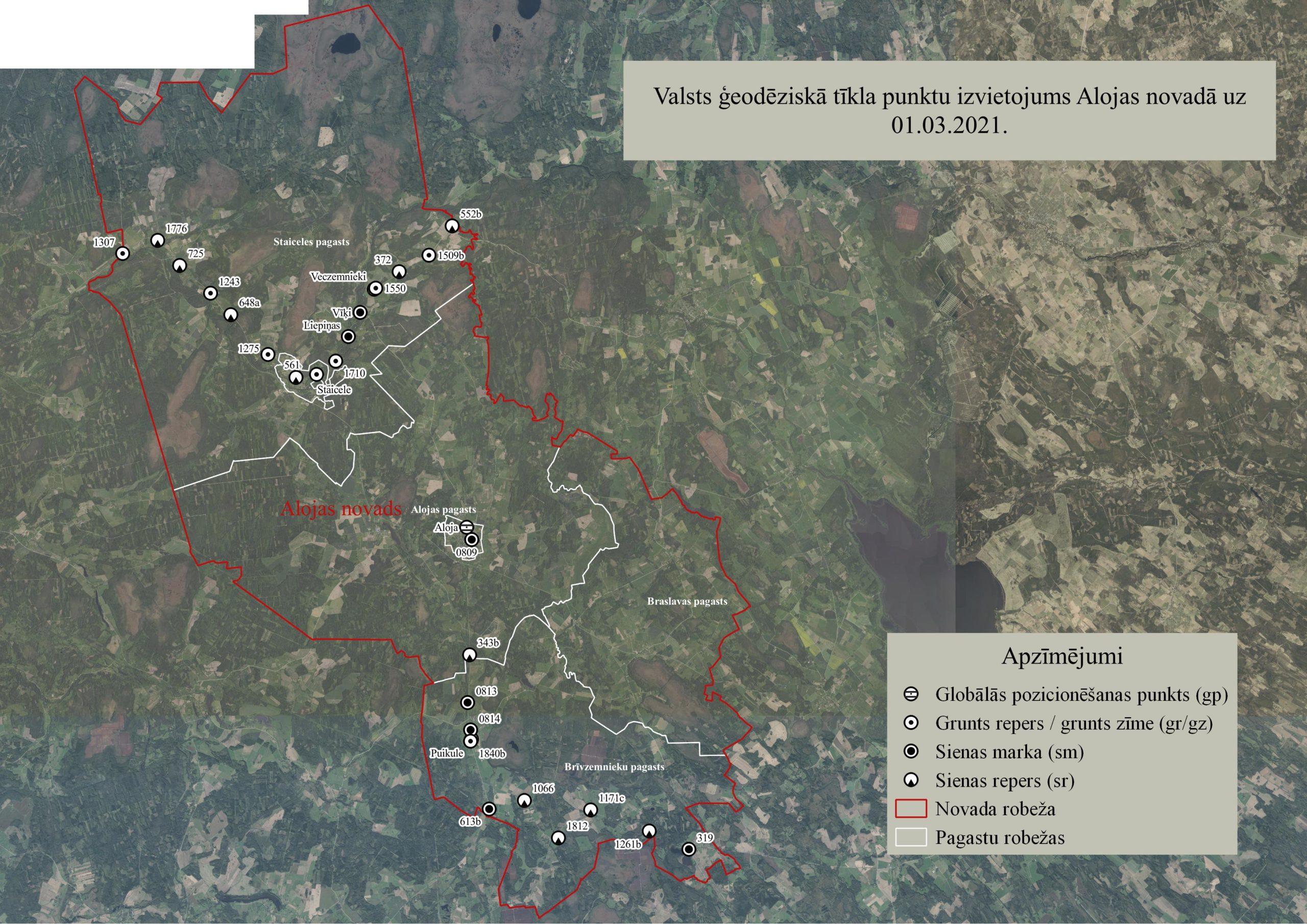 Latvijas Ģeotelpiskās informācijas aģentūra veiks valsts ģeodēziskā tīkla punktu apsekošanu