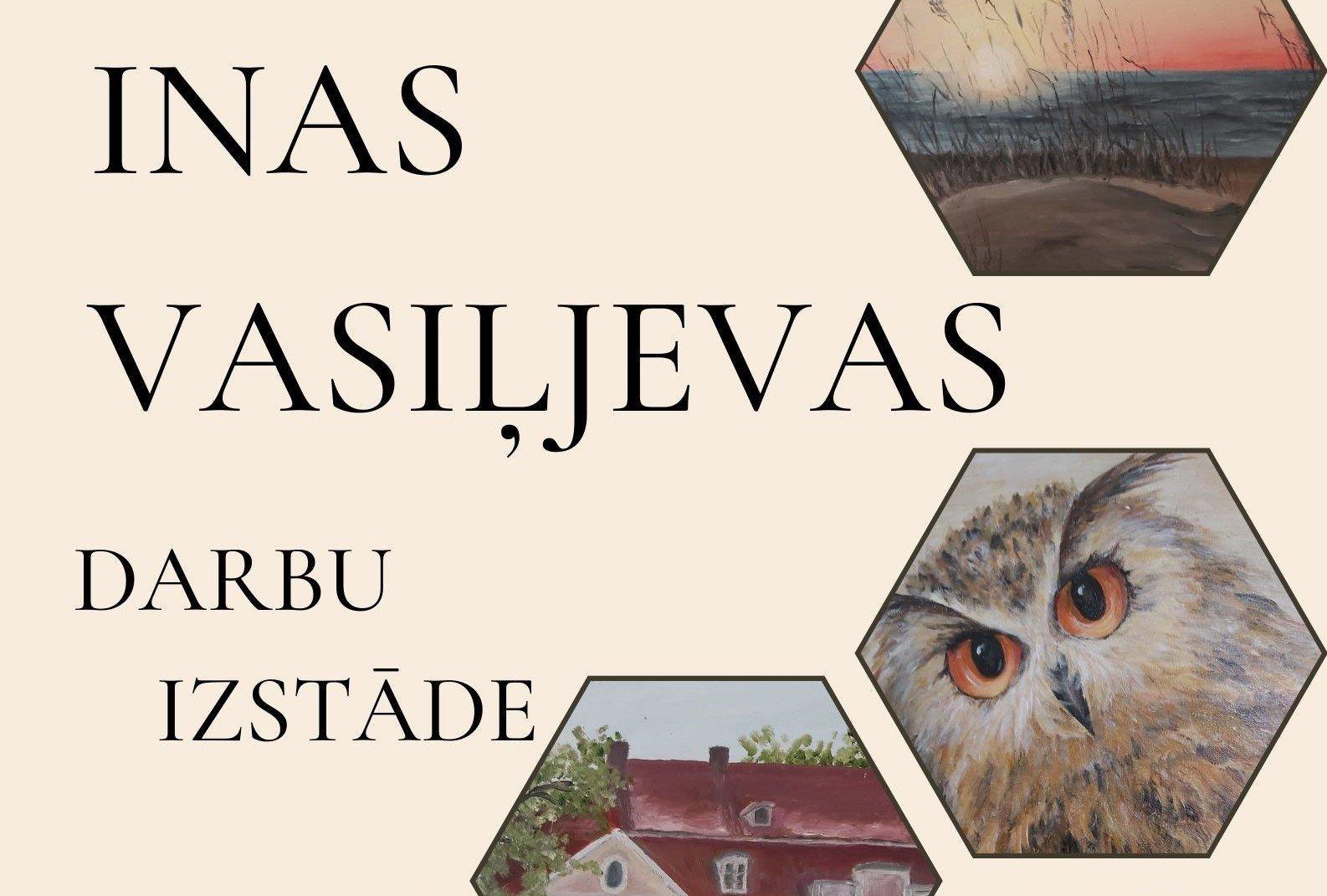 Puikules muižā apskatāma Inas Vasiļjevas darbu izstāde