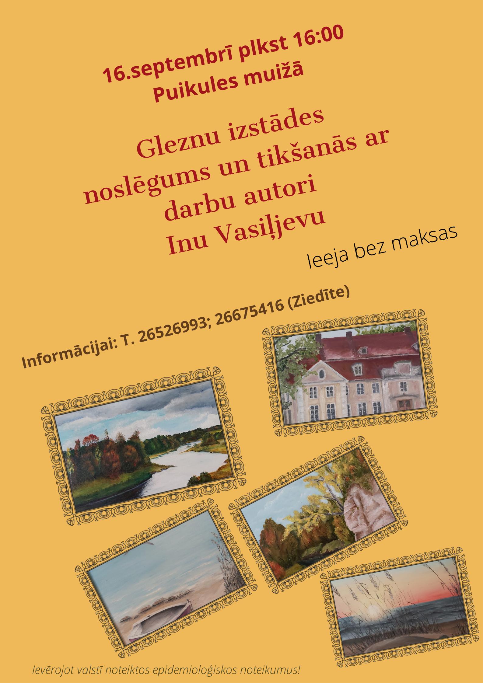 Gleznu izstādes noslēgums un tikšanās ar Inu Vasiļjevu